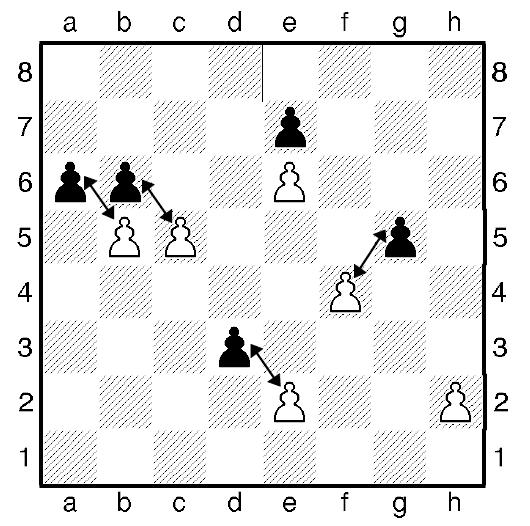 Шахматная пешка - взятие