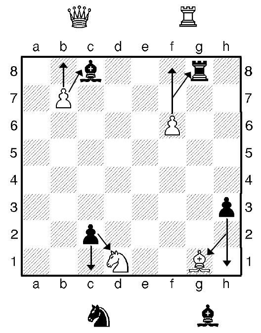 Шахматная пешка -превращение