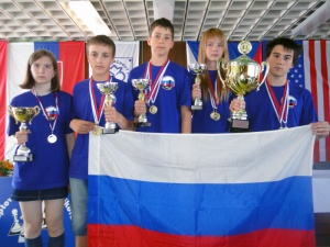 Награждение шахматной команды СПб Youth chess Festival V4 Liptov 2012
