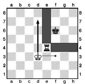 Линейный мат шахматной ладьей